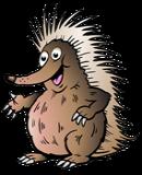 Cartoon Australian Echidna Pointing