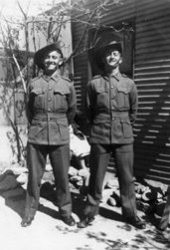 Our father Maurice Bell (on right) and his brother Colin Bell in their Australian Army WW2 uniform