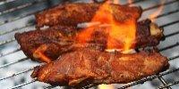 Pork Ribs on a BBQ Grill