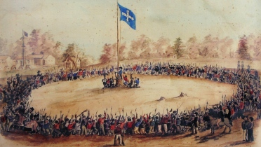 Eureka Rebellion -Swearing Allegiance to the Southern Cross on 1 December 1854