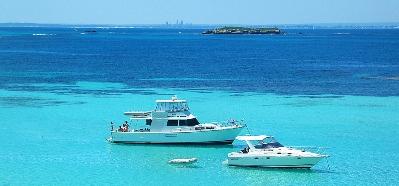 Boats near Rottnest Island, Western Australia