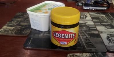 Vegemite Jar & A Butter Container