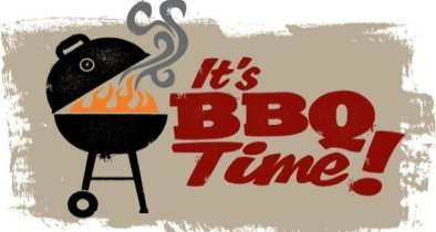 It's BBQ Time Sign Illustration