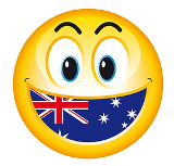 Aussie Smiley Face