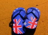 Thongs on a Beach
