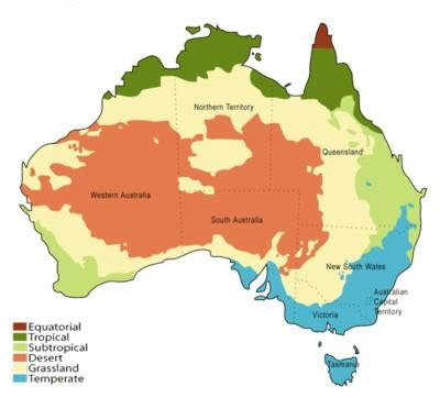 Australia Climate Zones Map