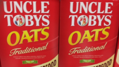 Packets of Uncle Tobys Oats