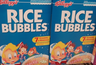 Packets of Rice Bubbles