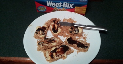 Weet-Bix With Butter & Vegemite