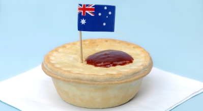 Australian Meat Pie With Aussie Flag