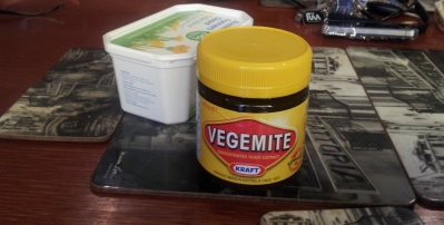 Vegemite Jar & A Butter Container