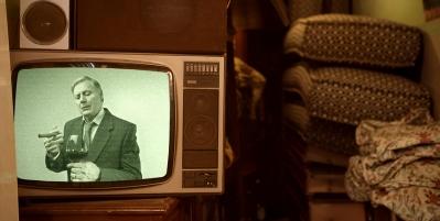 Old Black & White Television Set