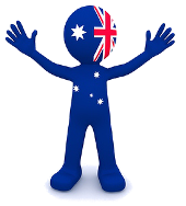 Aussie Icon With Hands Up