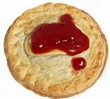 Australian Meat Pie with Tomato Sauce