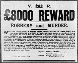 Reward Sign For the Capture of The Kelly Gang