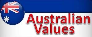 Australian Values Banner Sign