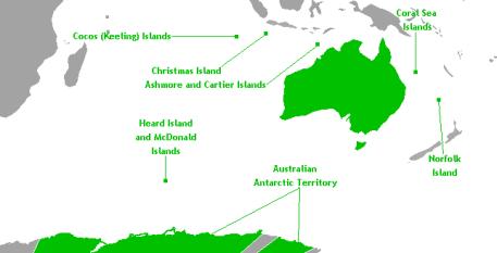 External Territories Of Australia Map
