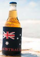 Australian Stubby Holder with a Beer in it