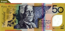 $50 Note - David Unaipon