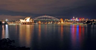 Sydney Harbour Bridge & The Opera House At Night