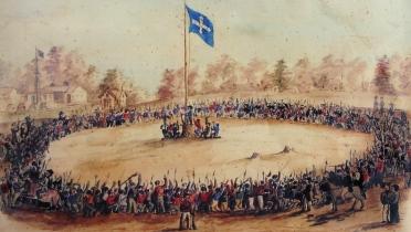 Eureka Rebellion -Swearing Allegiance to the Southern Cross on 1 December 1854