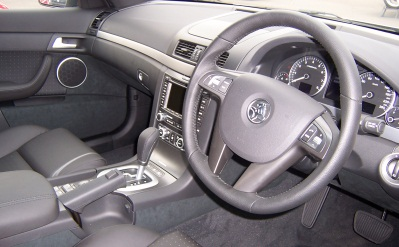Interior Of Australian Sedan - Showing Steering Wheel And Pedals On The Right