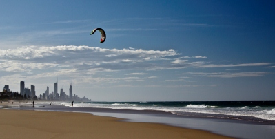 Kite-Surfing On The Gold Coast