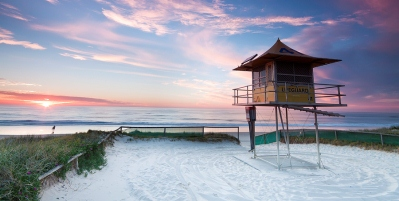 Lifeguard Hut On The Gold Coast