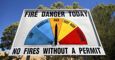 Australian Fire Danger Index Warning Sign