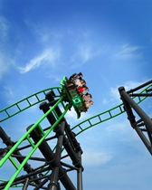 Green Lantern Roller Coaster - WARNER BROS. MOVIE WORLD and logo and all related characters and elements are trademarks of and © Warner Bros. Entertainment Inc. BATMAN, GREEN LANTERN and all related characters and elements are trademarks of and © DC Comics. (s12)