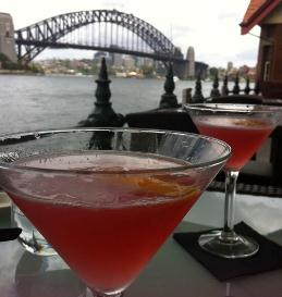 Enjoying A Cocktail On Sydney Harbour