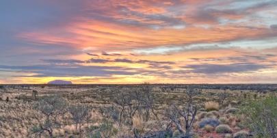 Sunrise over Uluru-Kata Tjuta