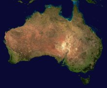 Satellite photo of Australia