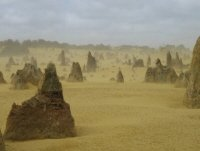 Western Australia Pinnacles Sandstorm