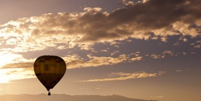 Hot Air Balloon over the Valley