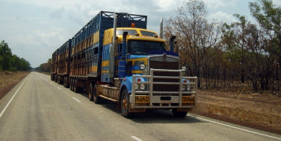 Outback Australia Truck Called A Road Train